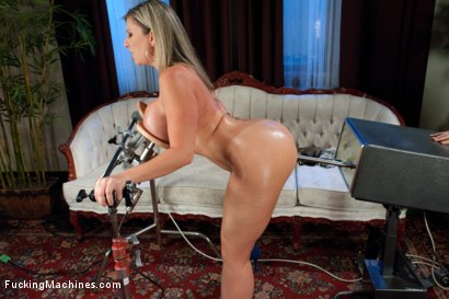 Photo number 3 from Home Alone MILF:   Double Vag Machine Fucking shot for Fucking Machines on Kink.com. Featuring Sara Jay in hardcore BDSM & Fetish porn.