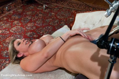 Photo number 14 from Home Alone MILF:   Double Vag Machine Fucking shot for Fucking Machines on Kink.com. Featuring Sara Jay in hardcore BDSM & Fetish porn.