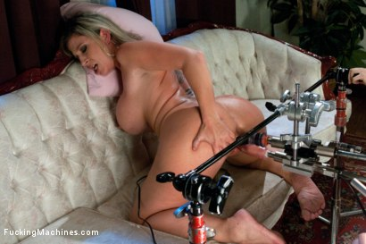 Photo number 10 from Home Alone MILF:   Double Vag Machine Fucking shot for Fucking Machines on Kink.com. Featuring Sara Jay in hardcore BDSM & Fetish porn.
