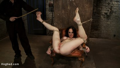 Photo number 15 from Most incredible foot caning scene ever done   You have never seen anything like this, we promise. shot for Hogtied on Kink.com. Featuring Scarlet Faux in hardcore BDSM & Fetish porn.