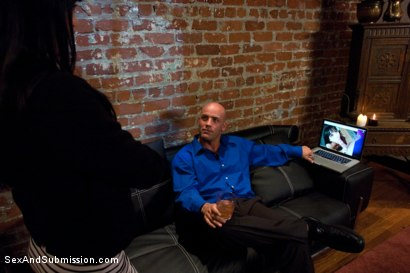 Photo number 4 from Gia Blackmailed shot for Sex And Submission on Kink.com. Featuring Derrick Pierce and Gia DiMarco in hardcore BDSM & Fetish porn.