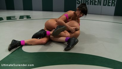 Photo number 8 from Amazing featherweights battle it out to see who the baddest girl under 100lbs is. Loser is fucked! shot for Ultimate Surrender on Kink.com. Featuring Gia DiMarco and Rosemary Radeva in hardcore BDSM & Fetish porn.