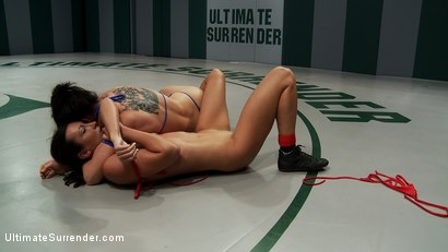 Photo number 2 from 2 strong fitness models battle in brutal non-scripted wresting<br>Loser gets double ass fucked hard! shot for Ultimate Surrender on Kink.com. Featuring Cheyenne Jewel and Wenona in hardcore BDSM & Fetish porn.