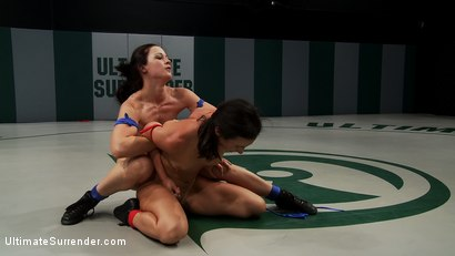 Photo number 4 from 2 strong fitness models battle in brutal non-scripted wresting<br>Loser gets double ass fucked hard! shot for Ultimate Surrender on Kink.com. Featuring Cheyenne Jewel and Wenona in hardcore BDSM & Fetish porn.
