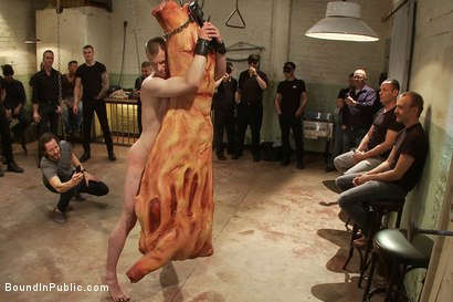 Photo number 1 from Big stud gets his ass pulverized in the slaughterhouse shot for Bound in Public on Kink.com. Featuring Blake Daniels and Christian Wilde in hardcore BDSM & Fetish porn.