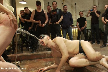 Photo number 9 from Big stud gets his ass pulverized in the slaughterhouse shot for Bound in Public on Kink.com. Featuring Blake Daniels and Christian Wilde in hardcore BDSM & Fetish porn.