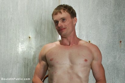 Photo number 15 from Filthy slut services a cruisy bathroom full of horny dudes shot for Bound in Public on Kink.com. Featuring Phenix Saint and Ethan Hunter in hardcore BDSM & Fetish porn.