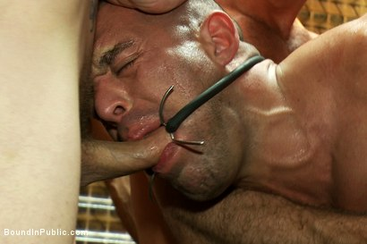 Photo number 9 from Muscle stud gangbanged at Club Eros sex club shot for Bound in Public on Kink.com. Featuring Josh West and Ben Stone in hardcore BDSM & Fetish porn.