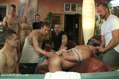 Photo number 1 from Muscle stud gangbanged at Club Eros sex club shot for Bound in Public on Kink.com. Featuring Josh West and Ben Stone in hardcore BDSM & Fetish porn.