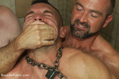 Photo number 6 from Muscle stud gangbanged at Club Eros sex club shot for Bound in Public on Kink.com. Featuring Josh West and Ben Stone in hardcore BDSM & Fetish porn.