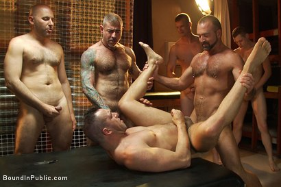 Photo number 14 from Muscle stud gangbanged at Club Eros sex club shot for Bound in Public on Kink.com. Featuring Josh West and Ben Stone in hardcore BDSM & Fetish porn.