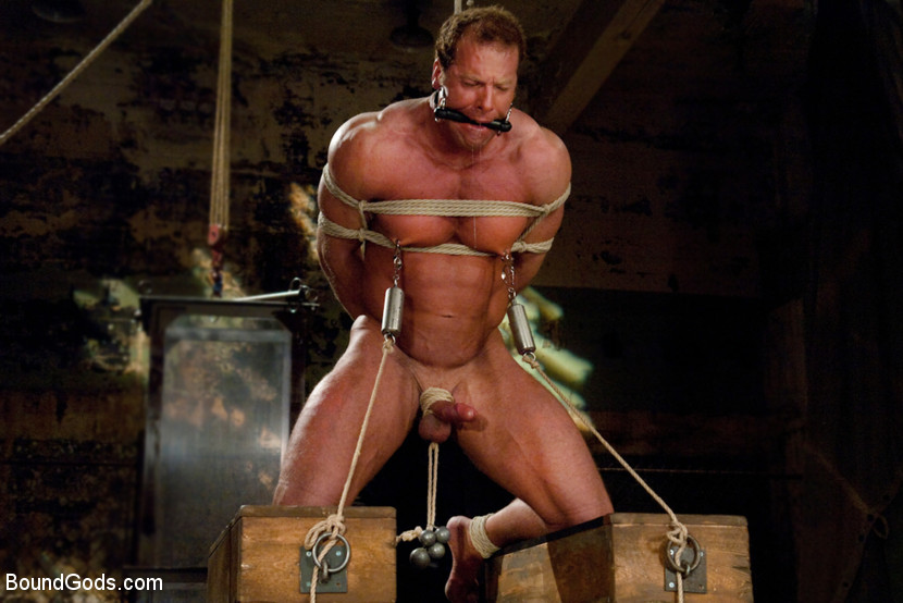 Bondage in man pain