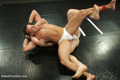 Photo number 4 from Nikko Alexander vs Noah Brooks shot for Naked Kombat on Kink.com. Featuring Chris Tyler and Noah Brooks in hardcore BDSM & Fetish porn.