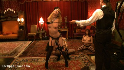 Photo number 12 from Service Day shot for The Upper Floor on Kink.com. Featuring Sparky Sin Claire, Nicki Blue and Lilla Katt in hardcore BDSM & Fetish porn.