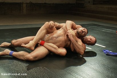 Photo number 10 from Tyler Saint vs Alessio Romero <br> The Oil Match shot for Naked Kombat on Kink.com. Featuring Tyler Saint and Alessio Romero in hardcore BDSM & Fetish porn.