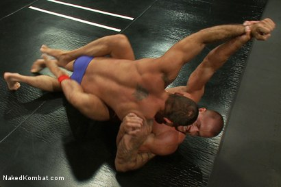 Photo number 2 from Tyler Saint vs Alessio Romero <br> The Oil Match shot for Naked Kombat on Kink.com. Featuring Tyler Saint and Alessio Romero in hardcore BDSM & Fetish porn.