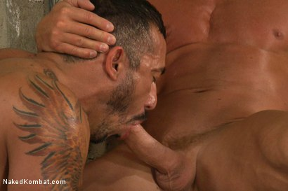 Photo number 11 from Tyler Saint vs Alessio Romero <br> The Oil Match shot for Naked Kombat on Kink.com. Featuring Tyler Saint and Alessio Romero in hardcore BDSM & Fetish porn.
