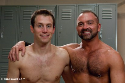 Photo number 15 from Bondage Workout shot for Bound Gods on Kink.com. Featuring Josh West and Kyle Quinn in hardcore BDSM & Fetish porn.