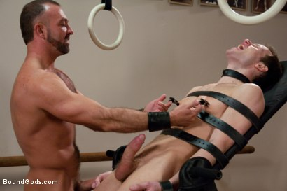 Photo number 6 from Bondage Workout shot for Bound Gods on Kink.com. Featuring Josh West and Kyle Quinn in hardcore BDSM & Fetish porn.