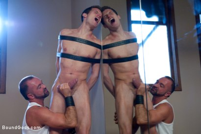 Photo number 3 from Bondage Workout shot for Bound Gods on Kink.com. Featuring Josh West and Kyle Quinn in hardcore BDSM & Fetish porn.