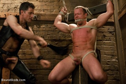 Photo number 6 from Master Avery and the new muscle slave shot for Bound Gods on Kink.com. Featuring Master Avery and Ethan Hudson in hardcore BDSM & Fetish porn.