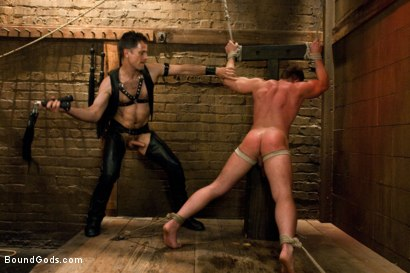 Photo number 8 from Master Avery and the new muscle slave shot for Bound Gods on Kink.com. Featuring Master Avery and Ethan Hudson in hardcore BDSM & Fetish porn.