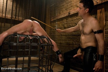 Photo number 10 from Master Avery and the new muscle slave shot for Bound Gods on Kink.com. Featuring Master Avery and Ethan Hudson in hardcore BDSM & Fetish porn.