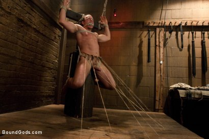 Photo number 4 from Master Avery and the new muscle slave shot for Bound Gods on Kink.com. Featuring Master Avery and Ethan Hudson in hardcore BDSM & Fetish porn.
