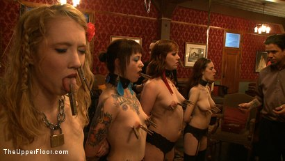 Photo number 4 from Service Day: Sexual Training shot for The Upper Floor on Kink.com. Featuring Iona Grace, Sparky Sin Claire, Lilla Katt, Nicki Blue and Maestro in hardcore BDSM & Fetish porn.