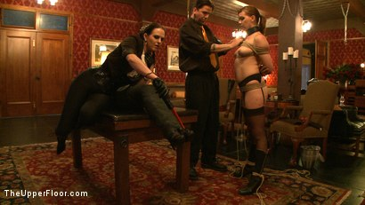 Photo number 11 from Service Day shot for The Upper Floor on Kink.com. Featuring Lilla Katt, Nicki Blue and Sophie Monroe in hardcore BDSM & Fetish porn.