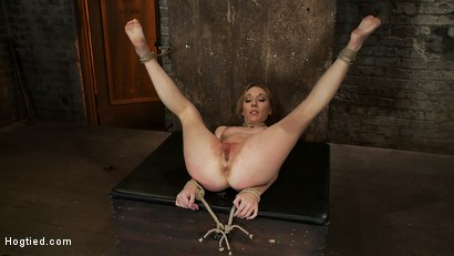 Photo number 6 from March's Live Show 2/3<br>Tickled, flogged, foot caned, banged, squirting & vibrated to brutal orgasm shot for Hogtied on Kink.com. Featuring Emma Haize and Isis Love in hardcore BDSM & Fetish porn.