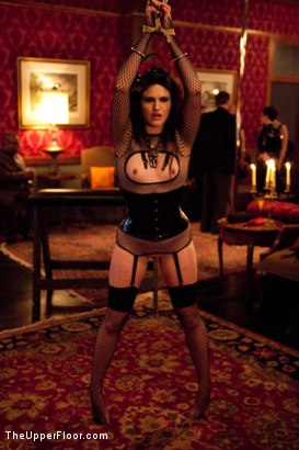 Photo number 2 from Masters' Evening shot for The Upper Floor on Kink.com. Featuring Sparky Sin Claire, Iona Grace, Sophie Monroe, Lilla Katt, Maestro Stefanos and Nicki Blue in hardcore BDSM & Fetish porn.