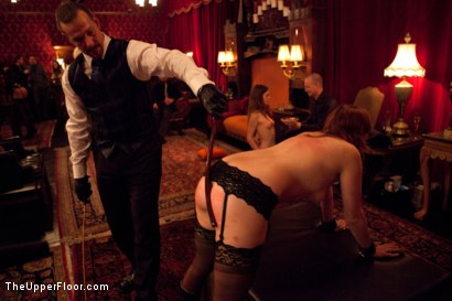 Photo number 13 from Masters' Evening shot for The Upper Floor on Kink.com. Featuring Sparky Sin Claire, Iona Grace, Sophie Monroe, Lilla Katt, Maestro Stefanos and Nicki Blue in hardcore BDSM & Fetish porn.