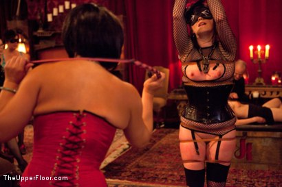 Photo number 17 from Masters' Evening shot for The Upper Floor on Kink.com. Featuring Sparky Sin Claire, Iona Grace, Sophie Monroe, Lilla Katt, Maestro Stefanos and Nicki Blue in hardcore BDSM & Fetish porn.