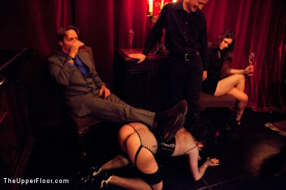 Photo number 4 from Masters' Evening shot for The Upper Floor on Kink.com. Featuring Sparky Sin Claire, Iona Grace, Sophie Monroe, Lilla Katt, Maestro Stefanos and Nicki Blue in hardcore BDSM & Fetish porn.