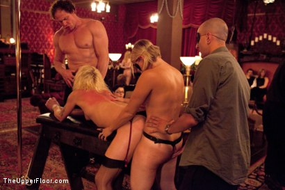 Photo number 6 from Masters' Evening shot for The Upper Floor on Kink.com. Featuring Sparky Sin Claire, Iona Grace, Sophie Monroe, Lilla Katt, Maestro Stefanos and Nicki Blue in hardcore BDSM & Fetish porn.