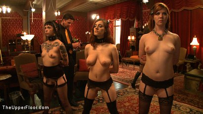 Photo number 12 from Service Day: Promotion shot for The Upper Floor on Kink.com. Featuring Iona Grace, Sparky Sin Claire and Lilla Katt in hardcore BDSM & Fetish porn.