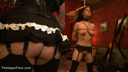 Photo number 7 from Service Day: Promotion shot for The Upper Floor on Kink.com. Featuring Iona Grace, Sparky Sin Claire and Lilla Katt in hardcore BDSM & Fetish porn.