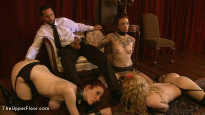 Photo number 9 from Service Day: Table Settings shot for The Upper Floor on Kink.com. Featuring Maestro, Iona Grace, Sparky Sin Claire, Lilla Katt, Nicki Blue, Maestro Stefanos and Sophie Monroe in hardcore BDSM & Fetish porn.