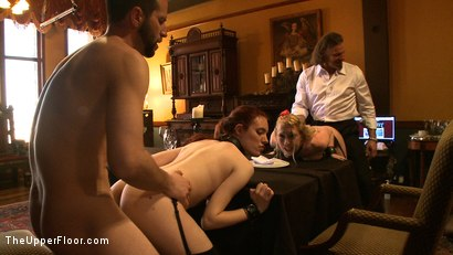 Photo number 11 from Service Day: Table Settings shot for The Upper Floor on Kink.com. Featuring Maestro, Iona Grace, Sparky Sin Claire, Lilla Katt, Nicki Blue, Maestro Stefanos and Sophie Monroe in hardcore BDSM & Fetish porn.