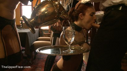 Photo number 4 from Service Day: Table Settings shot for The Upper Floor on Kink.com. Featuring Maestro, Iona Grace, Sparky Sin Claire, Lilla Katt, Nicki Blue, Maestro Stefanos and Sophie Monroe in hardcore BDSM & Fetish porn.