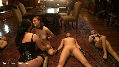 Photo number 16 from Service Day: Roof shot for The Upper Floor on Kink.com. Featuring Iona Grace, Sparky Sin Claire, Lilla Katt, Nerine Mechanique and Sophie Monroe in hardcore BDSM & Fetish porn.