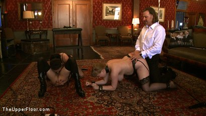 Photo number 13 from Service Day shot for The Upper Floor on Kink.com. Featuring Nerine Mechanique, Iona Grace, Sophie Monroe and Maestro Stefanos in hardcore BDSM & Fetish porn.