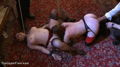 Photo number 3 from Service Day: Fidgeting shot for The Upper Floor on Kink.com. Featuring Lilla Katt and Nerine Mechanique in hardcore BDSM & Fetish porn.