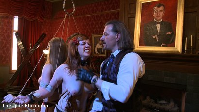 Photo number 10 from Service Day: Fidgeting shot for The Upper Floor on Kink.com. Featuring Lilla Katt and Nerine Mechanique in hardcore BDSM & Fetish porn.
