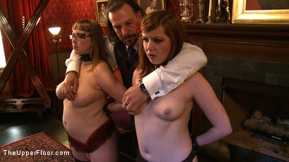 Photo number 13 from Service Day: Fidgeting shot for The Upper Floor on Kink.com. Featuring Lilla Katt and Nerine Mechanique in hardcore BDSM & Fetish porn.