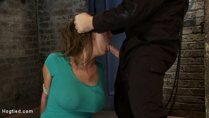 Photo number 3 from How to manhandle a slut 101:<br>Big tits, sexy face, no gag reflex. This is how you fuck up a bitch. shot for Hogtied on Kink.com. Featuring Trina Michaels in hardcore BDSM & Fetish porn.