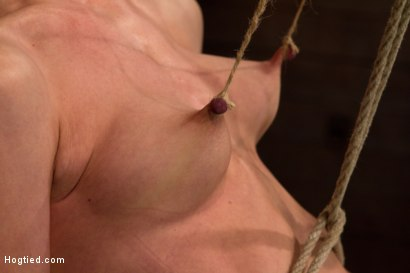 Photo number 11 from Brutal nipple pulling, slow strangulation, extreme back arching<br>Made to cum so hard, so often. shot for Hogtied on Kink.com. Featuring Elise Graves in hardcore BDSM & Fetish porn.