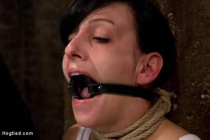 Photo number 6 from Brutal nipple pulling, slow strangulation, extreme back arching<br>Made to cum so hard, so often. shot for Hogtied on Kink.com. Featuring Elise Graves in hardcore BDSM & Fetish porn.