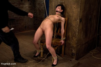Photo number 9 from Brutal nipple pulling, slow strangulation, extreme back arching<br>Made to cum so hard, so often. shot for Hogtied on Kink.com. Featuring Elise Graves in hardcore BDSM & Fetish porn.